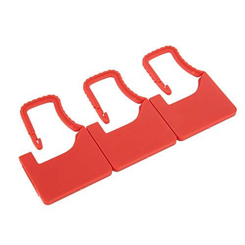 Atyhao Packung mit 100 Einweg-mehrfarbigen Gepäck-Kunststoff-Vorhängeschloss-Dichtungen Mehrere farbig nummerierte Kunststoff-Vorhängeschloss-Dichtung(rot) -