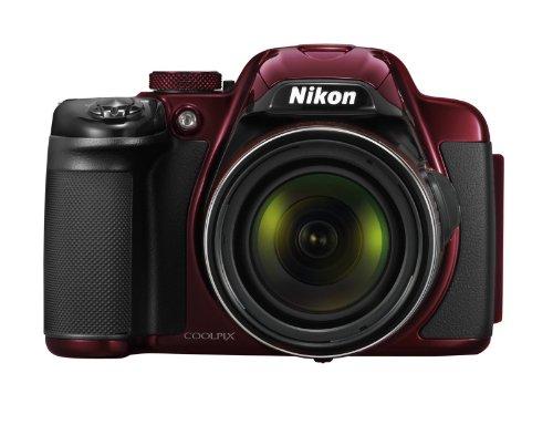 Nikon Coolpix P520 Digitalkamera (18 Megapixel, 42-fach opt. Zoom, 8 cm (3,2 Zoll) LCD-Display, Bildstabilisator) granat rot