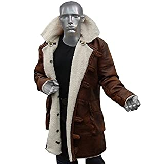 Stylowears Bane Coat The Dark Knight Rises Tom Hardy Synthetic Leather Coat (Small-Person with Chest 37