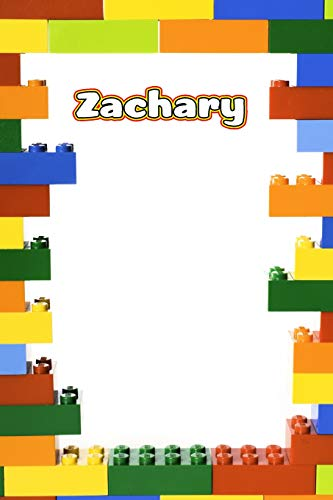 Zachary: Building Brick Blank Comic Book Notebook Journal book 120 pages 6