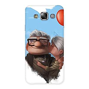 100200 Ajay Enterprises Extant Old Cute Couple Back Case Cover for Galaxy E7