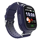 Elepaio Kids Smart Watch, Touchscreen GPS Tracker Sim Card Smartwatch Phone Anti-lost Finder with SOS Call Children Wristwatch Fitness Tracker Bracelet with Parents Control App for Android IOS (Blue) (Blue) (Blue)