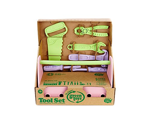 GREEN TOYS CAISSE A OUTILS ROSE