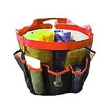 iShine Portable Mesh Tasche hängende Badezimmer Korb Ablagekorb Storage Aufbewahrungstasche Handtasche für Sandstrand Schwimmhalle Dusche Tasche - Orange