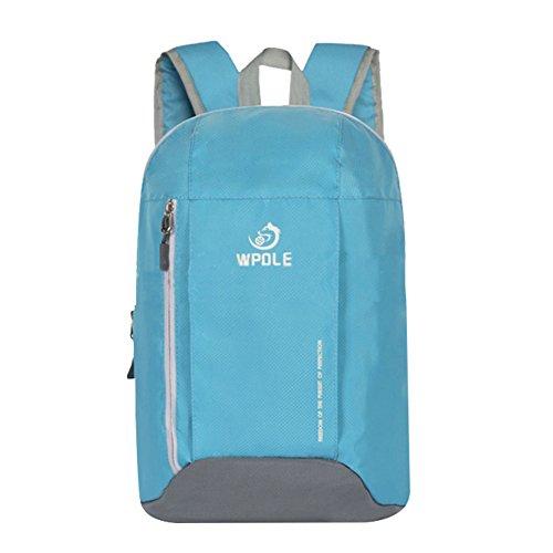 Broadcom Super Modern Unisex Schultasche Nylon Wasserdicht Wandern Rucksack Cool Rucksack handlich Daypack für Reise- und Outdoor Sport blau