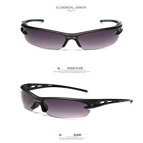 WY&WY 1Psc Ultra-leichte Sonnenbrille mit UV400 Linsen für Radfahren, Mountainbiken, Outdoor-Sport, Wandern,Gray