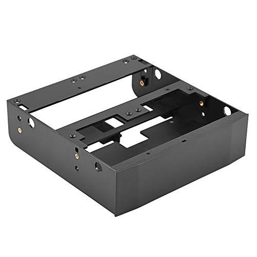 Richer-R Festplatten-Einbaurahmen Set, 5.25 Zoll auf 2.5/3.5 Zoll HDD/SSD Halterung Rahmen,Floppy-Drive Bay Festplatten Wechselrahmen Adapter Halterung Schwarz (Drive Adapter Floppy)