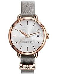 Montre Femmes ESPRIT Quartz - Affichage Analogique bracelet Cuir Gris taupe et Cadran Argent ES109402003