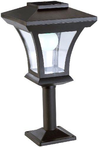 Lunartec Solar LED Sockelleuchten: Solar-LED-Standleuchte SWL-05 im Laternen-Design, 45 Lumen, 0,3 Watt (Garten Standleuchte Solar)