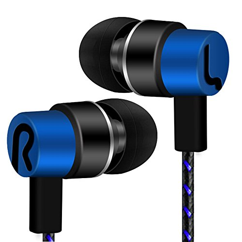 DAKERTA Drahtloser Kopfhörer,Bluetooth Stereo-Kopfhörer-Headset, Drahtloser Magnetischer In-Ear-Ohrhörer Kopfhörer Mit Mikrofon (Blau)