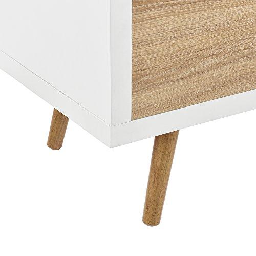 41vo2BXmOuL - [en.casa]®] Mesa de TV-/ Lowboard/Mueble de televisión con 3 cajones (120x39x39cm) - Blanco