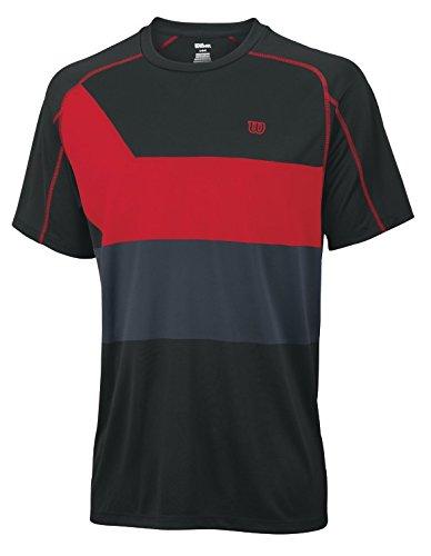 Wilson Herren T-Shirt Ashland Colorband Crew Schwarz/Dunkellila