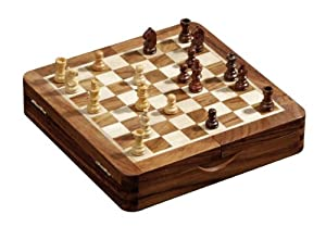 Philos 4014156027329 Tablero de ajedrez plegable Juego de ajedrez para escritorio - Juegos de ajedrez (Tablero de ajedrez plegable, Juego de ajedrez para escritorio, Plaza, Marrón, Madera, Boxwood, Madera, Marrón, Madera natural)