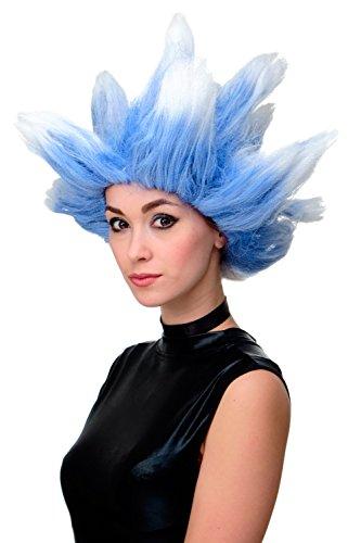 Wig me up - Perücke Fasching Karneval Cosplay Fanperücke Nordwind Sturm Storm Winter Eiswind Blau Weiß LM19-PC3TP60