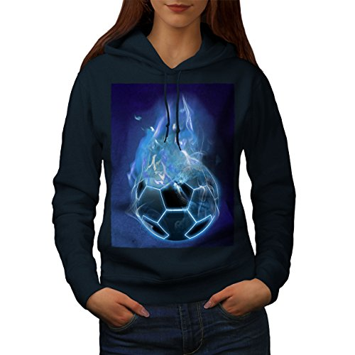 Diable sport Football Femme S-2XL Sweat à capuche | Wellcoda Bleu