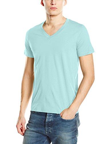 Stedman Apparel Herren T-Shirt James (V-Neck)/st9210 Premium Blau - Frosted Blue
