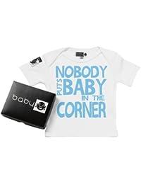 Baby Buddha - Nobody Puts Baby Corner Baby T-Shirt Bio-baumwolle & Geschenkkarton