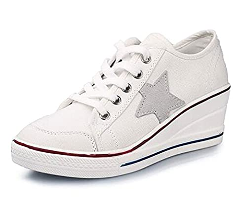 Wealsex Baskets Mode Chaussure De Sport Sneakers Chaussures En Toile
