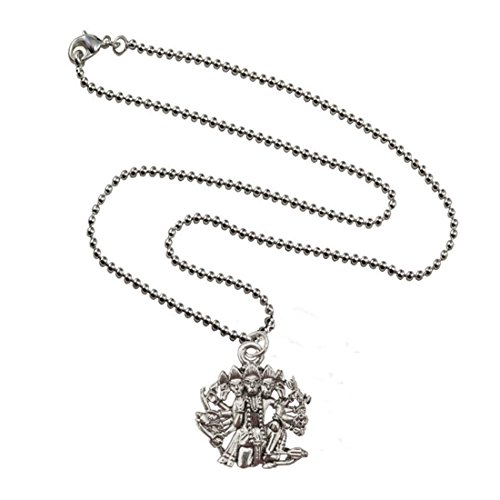 Mens Jewellery Fashion Silver Toned Panchmukhi Hanuman Alloy Pendant  available at amazon for Rs.174