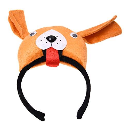 Für Hündchen Erwachsene Kostüm - Hund Kopfband - SODIAL(R)3D Hund Huendchen Kopfband Tier Bauernhof Erwachsene Kinder Kostuem Maske