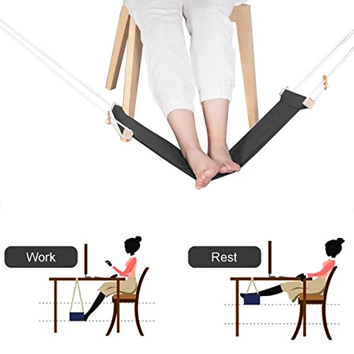 Hamac de pied, repose-pieds portatif réglable de repos de...
