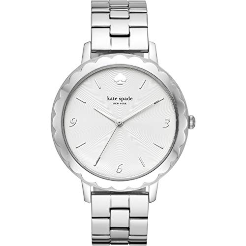 Kate Spade KSW1493 Metro Scallop Reloj de Acero Inoxidable Plateado con Tres manecillas para Mujer