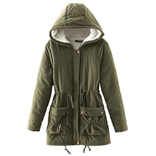 Tookang donna parka con cappuccio in pelliccia ecologica cappotto invernale top giubbotto lungo caldo del rivestimento 19 colori s-xxl