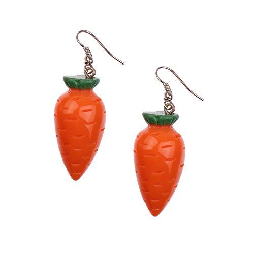 Snykk Karotten-Ohrringe - 2 Stück - Möhre