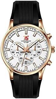 ساعة T5 للرجال [مطاط، كرونوغراف] -H3397G-B