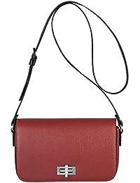 Kesslord Saffia Bicolor - Bolso al hombro de Otra Piel para mujer multicolor Rouge / Noir - RN