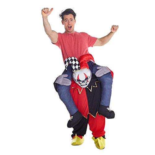 Morph Neu Huckepack Tragen Witzig Kostüm Unisex - Hofnarr Kostüm