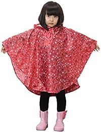 GudeHome Niños Chubasqueros estrella patrón ligero impermeable encapuchado impermeable