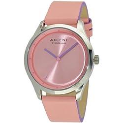 Axcent of Scandinavia-ix10854-555-Breeze Damen-Armbanduhr-Quarz Analog-Zifferblatt Rosa Armband Leder rosa