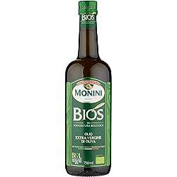 Monini BIOS Olio Extra Vergine di Oliva Italiano da Agricoltura Biologica - 1 Bottiglia da 750 ml