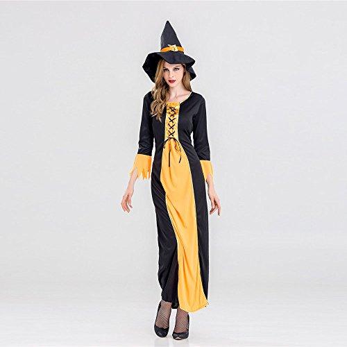 Übergröße Königin Kostüm Böse - BakeLIN Halloween Kleid Damen Teufelchen Cosplay böse Königin Lange Cosplay Kleider und Hut