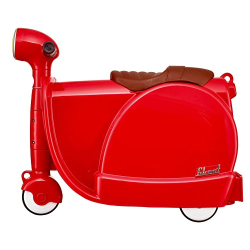 Skoot Kids' Ride-On Suitcase Equipaje Infantil, 13 Litros, Color Rojo