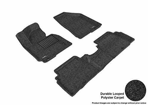 3d MAXpider All 2 Row Custom Fit Floor Mat for select SPORTAGE Models - Classic Carpet (Black)