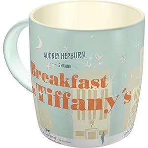 Nostalgic Art 40361134302 Tazza Breakfast at Tiffany's, Ceramica, Multicolore, 9 x 9x9 cm
