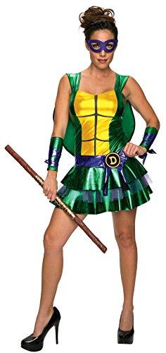 Turtle Sexy Kostüm Ninja - Donatello Kostüm für Damen sexy Ninja Turtles Classic