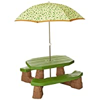 Step2 Naturally Playful Picnic Table With Umbrella Outdoor Toy, Green 787700