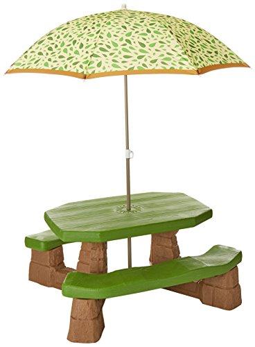 Step2 Picknick-Tisch mit Sonnenschirm (natürlich)