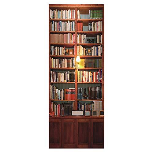 Wqq Türaufkleber Heimatszene 3D Türtapete Wasserdicht Abnehmbar Selbstklebend Wohnzimmer mädchen Schlafzimmer Aufkleber der Tür DIY Poster (30.3X78.7in),A