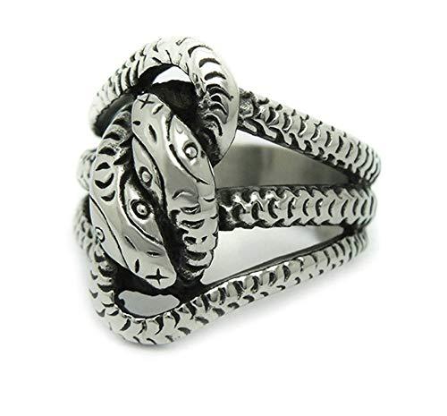 Verlobungsring Herren Gothic Schlange Silberring Gr. 54 (17.2) ()