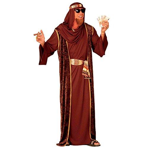 Scheich Kostüm Araber Scheichkostüm braun L (52) Orient Araberkostüm Herren Orientkostüm Sultan Faschingskostüm Kalif Ölscheich Tuareg Beduine Selim Arabisches Karnevalskostüm 998 Nacht Mottoparty Verkleidung Karneval Kostüme Männer (Arabische Kostüme Männer)