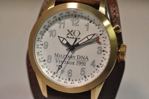 Nuovo da uomo Xo retro M1Abrams Tank vintage Iraq 1991DNA militare orologio da polso unisex - Gold Tone Vintage Pocket Watch