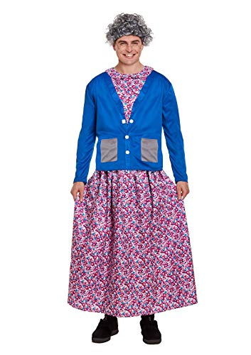 Fancy Flasher Dress Kostüm - Islander Fashions Kids Adults Groping Oma Kost�m Damen Flasher Oma Kost�m (Erwachsene) Einheitsgr��e
