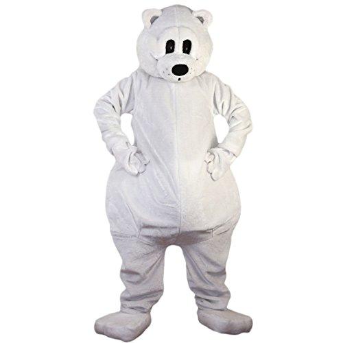 Polar Kostüm Bear - Langteng weiß Polar Bear Cartoon Maskottchen Kostüm Echt Bild 15-20Tage Marke