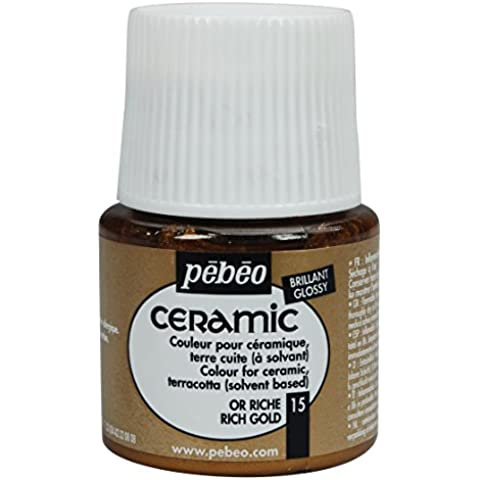 Pebeo pintura de cerámica rico oro 45 ml