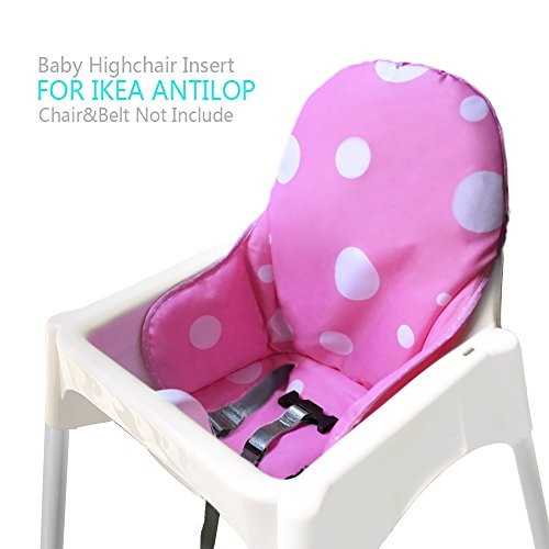 ZARPMA Cuscino Seggiolone coprisedili per Ikea Antilop,Lavabile per Bambini Pieghevole Ikea Childs Sedia coprisedili Ricoperto-Non Include Di Seggiolone E Cintura Di Sicurezza (Rosa)