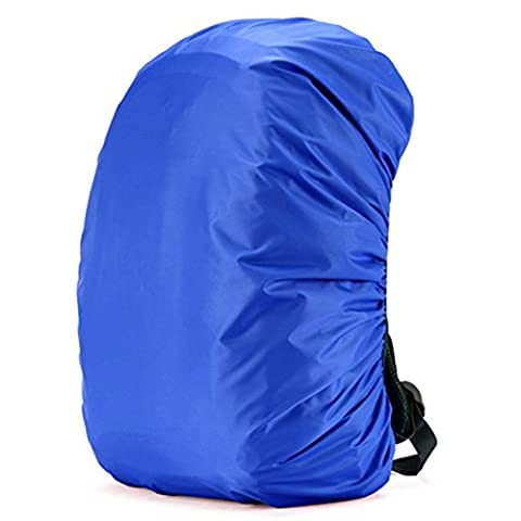 Cuckoo 35L Nylon Waterproof Backpack Rain Cover Rucksack Water Resist Cover Lightweight Pack Cover for Hiking Camping Traveling Outdoor Activities,lightblue